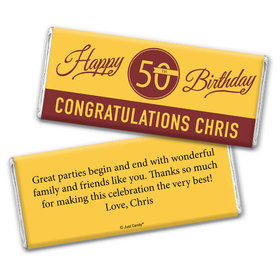 You're A Classic 50th Birthday Personalized Candy Bar - Wrapper Only