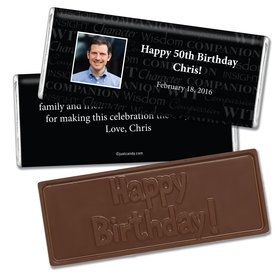 Birthday Personalized Embossed Chocolate Bar Photo Wisdom