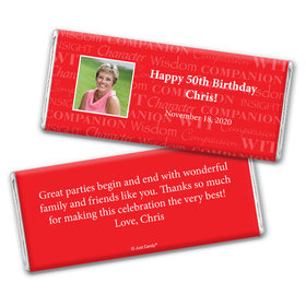 Years of Wisdom Personalized Candy Bar - Wrapper Only