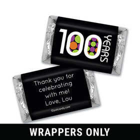 Bright Century 100th Birthday Personalized Miniature Wrappers