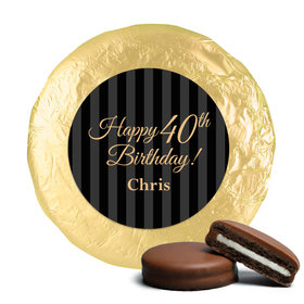 Personalized 40th Birthday Milk Chocolate Covered Oreo Cookies