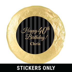 "Personalized 40th Birthday 1.25"" Stickers (48 Stickers)"