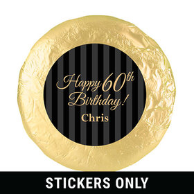"Personalized 60th Birthday 1.25"" Stickers (48 Stickers)"