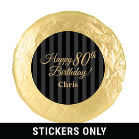 "Personalized 80th Birthday 1.25"" Stickers (48 Stickers)"