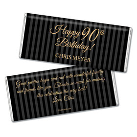 Milestones Personalized Chocolate Bar 90th Birthday Favors