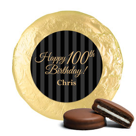 Personalized 100th Birthday Belgian Chocolate Covered Oreo Cookies (24 Pack)