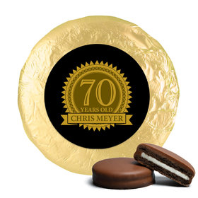 Personalized 70th Birthday Belgian Chocolate Covered Oreo Cookies (24 Pack)