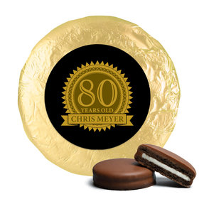 Personalized 80th Birthday Belgian Chocolate Covered Oreo Cookies (24 Pack)