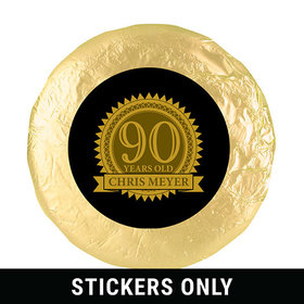 "Personalized 90th Birthday 1.25"" Stickers (48 Stickers)"