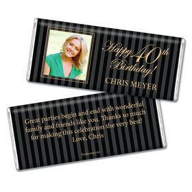 Milestones Personalized Chocolate Bar 40th Birthday
