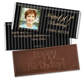 Milestones Personalized Embossed Chocolate Bar 60th Birthday