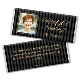 Formal Photo 60th BirthdayPersonalized Candy Bar - Wrapper Only