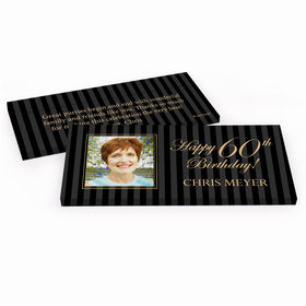 Deluxe Personalized Photo 60th Birthday Hershey's Chocolate Bar in Gift Box