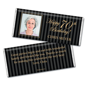 Milestones Personalized Chocolate Bar 70th Birthday
