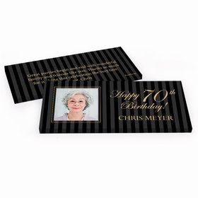 Deluxe Personalized Photo 70th Birthday Hershey's Chocolate Bar in Gift Box