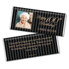 Milestones Personalized Chocolate Bar 100th Birthday