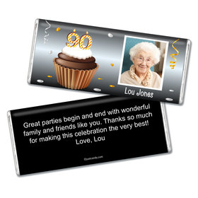 Personalized 90th Birthday Milestones Chocolate Bar & Wrapper