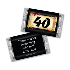 Commemorate MINIATURES Candy Personalized 40th Assembled