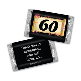 Milestones Personalized Hershey's Miniatures Wrappers 60th Birthday Chocolates Commemorate