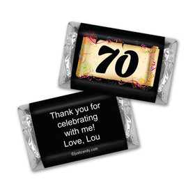 Milestones Personalized Hershey's Miniatures Wrappers 70th Birthday Chocolates Commemorate