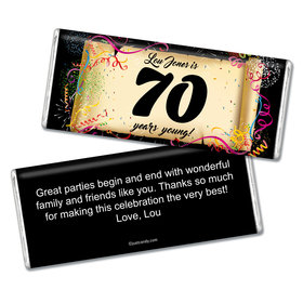 Milestones Personalized Chocolate Bar 70th Birthday Chocolates Commemorate