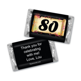 Milestones Personalized Hershey's Miniatures Wrappers 80th Birthday Chocolates Commemorate