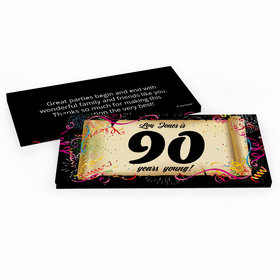 Deluxe Personalized 90th Confetti Birthday Birthday Hershey's Chocolate Bar in Gift Box