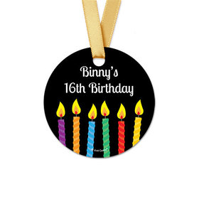 Personalized Stork Birthday Round Favor Gift Tags (20 Pack)
