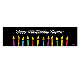 Personalized Candles Birthday Banner