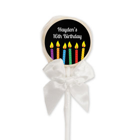 Birthday Personalized Lollipop Lit Candles (24 Pack)