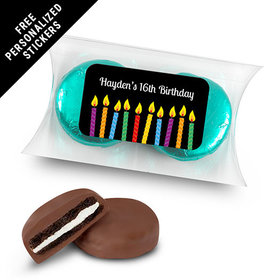 Birthday Personalized Pillow Box Lit Candles (25 Pack)