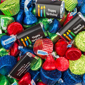 Birthday Candles Hershey's Miniatures, Kisses and Reese's Peanut Butter Cups