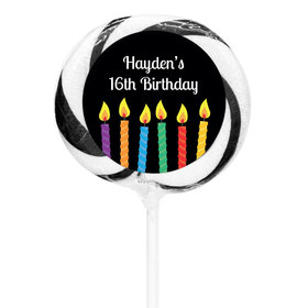 "Birthday Personalized 3"" Whirly Pop Lit Candles (24 Pack)"