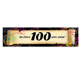 Personalized Confetti 100th Birthday Banner