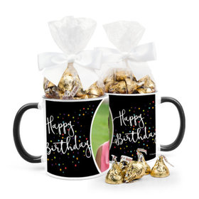 Personalized Birthday Colorful Stars 11oz Mug with Hershey's Kisses