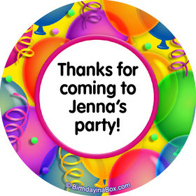 "Balloon Bash Personalized 2"" Stickers (20 Stickers)"