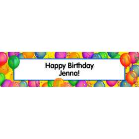 Personalized Balloon Bash Banner