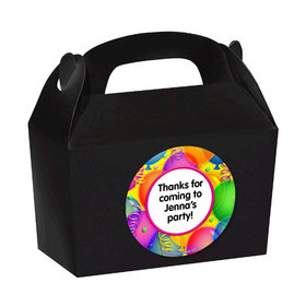Balloon Bash Personalized Favor Boxes (Set of 24)