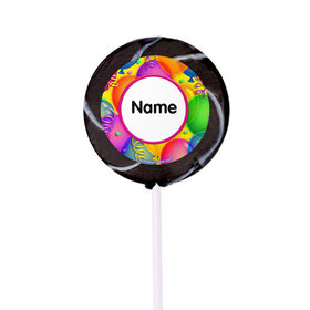 "Balloon Bash Personalized 2"" Lollipops (24 Pack)"