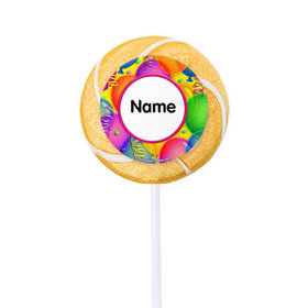 """Balloon Bash Personalized 2"""" Lollipops (24 Pack)"""