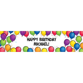 Bright Birthday (Glitz) Personalized Banner