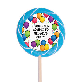 "Birthday Glitz Personalized 3"" Lollipops (12 Pack)"