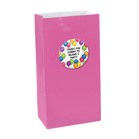 Birthday Glitz Personalized Paper Favor Bags (set of 12)