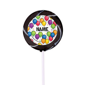 "Birthday Glitz Personalized 2"" Lollipops (24 Pack)"