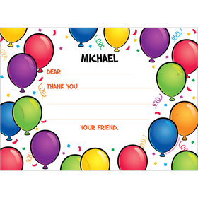 Birthday Glitz Personalized Thank You Note