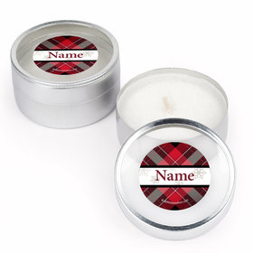 Buffalo Plaid Personalized Candle (Set of 12)