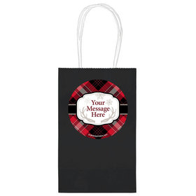 """Buffalo Plaid Personalized 5"""" Handle Bags (24 pack)"""