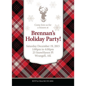 Buffalo Plaid Personalized Invitation