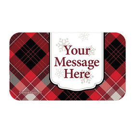 Buffalo Plaid Personalized Rectangular Stickers (18 Stickers)