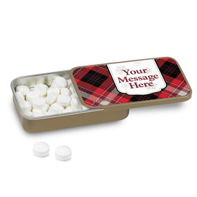 Buffalo Plaid Personalized Mint Tin (12 Pack)